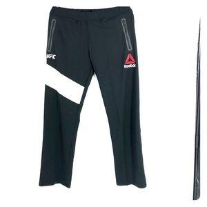 Reebok UFC black walk out pants.  Speedwick